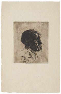 Portrait - Original Etching on Paper - 1907