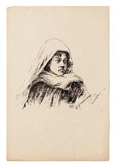 Portrait - Original Lithograph - 1880 ca