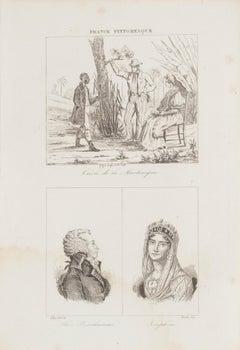 Portrait - Original Lithograph - 19th century