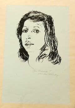 Portrait - Original Screen Print - Late 20th Century