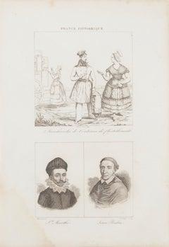 Portraits - Original Etching - 19th Century
