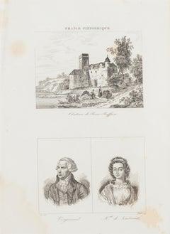 Portraits - Original Lithograph - 19th Century
