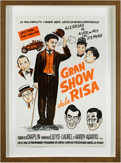 "Poster for ""Gran Show de la Risa"" with Charlie Chaplin, Harold Lloyd, and others"