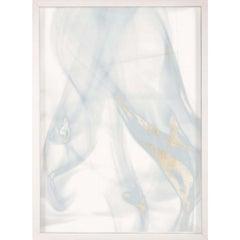 Prairie Wind Triptych No. 1, gold leaf, framed