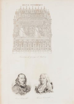 Price - Portrait - Original Lithograph - 19th Century