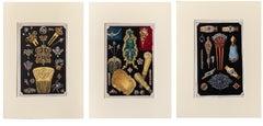 Rare Le Bijou Art Nouveau Lithographs S/3