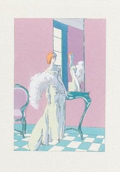 Ready to Dance - Original Pochoir - 1920