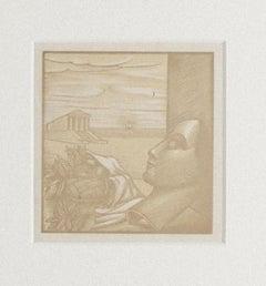Recalling Greece - Original Woodcut - 20th Century