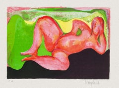 Reclined Nude - Original Lithograph - Mid-20th Century
