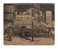 Reconstruction - Original Lithograph on Paper - 1940s