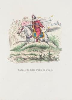Red Knights of D'Abd-el-kader - Original Lithograph - 1846