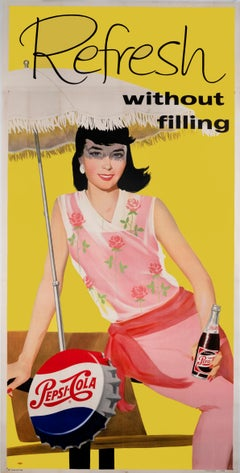 Refresh, without Filling - Pepsi Cola Mad Men Era original poster