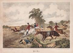 Riding - Original Lithograph - 19th Century