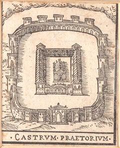 Rome, Castrum Praetorium - Original Etching  - 16th Century