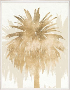 Royal Palm, gold leaf, framed
