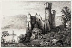 Ruins of Erenfels - Original Lithograph - 19th Century