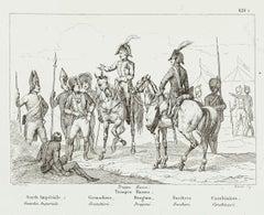 Russian Guards - Original Lithograph - 19th Century