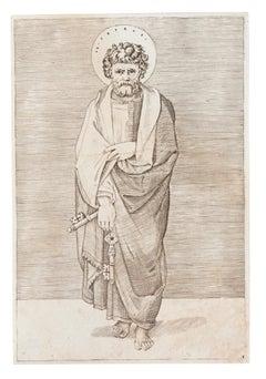 Saint Peter - Original Etching - 16th century