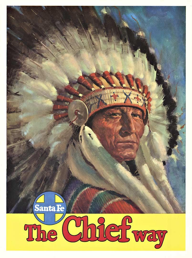 Santa Fe The Chief Way original American railroad poster