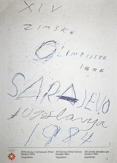 Sarajevo Winter Olympic - Vintage Offset Poster - 1984