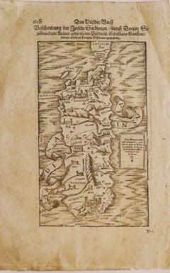 Sardinia - Original Etching - 16th Century