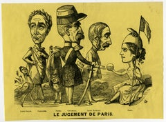 Satire on the 1848 elections in France - Wood engraving - 19th Century
