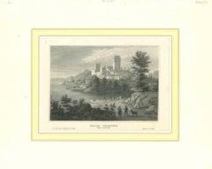 Schloss Weideneck - Original Lithograph on Paper - Mid-19th Century