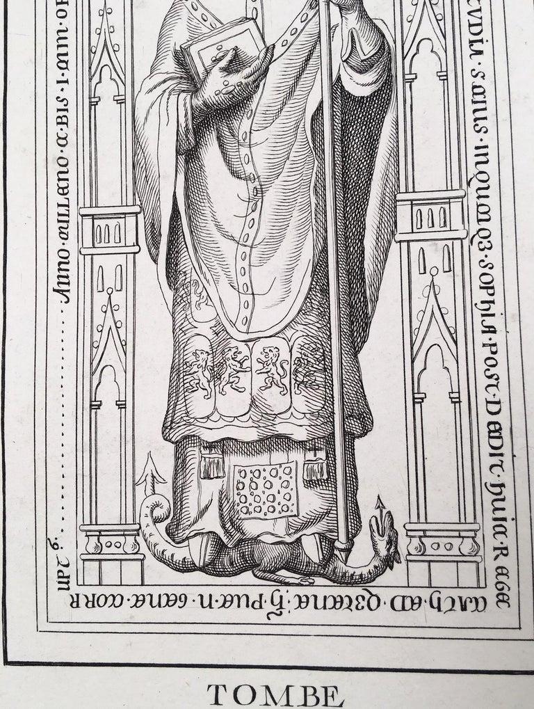 Sculpture Portrait of Pierre de Nemours from Notre Dame Cathedral, Paris - Gothic Print by Unknown