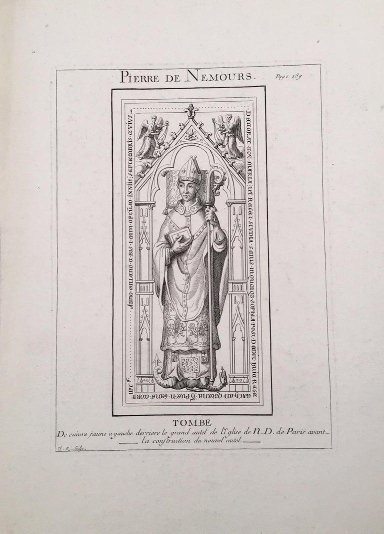 Sculpture Portrait of Pierre de Nemours from Notre Dame Cathedral, Paris - Gray Portrait Print by Unknown