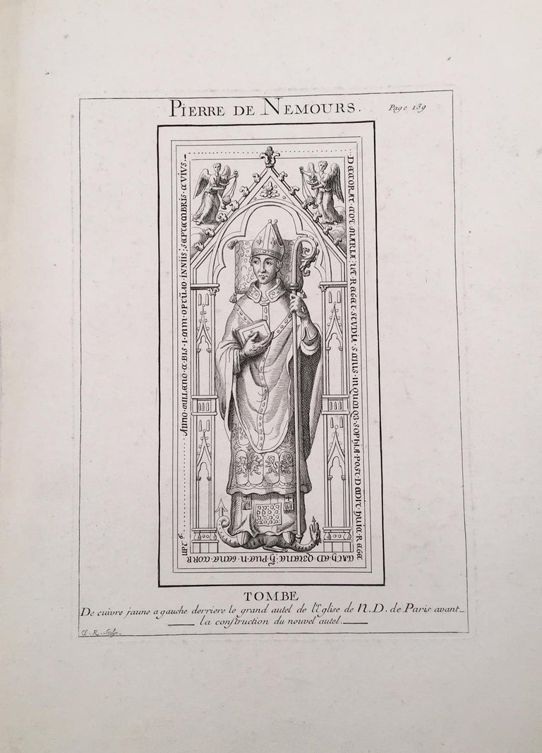 Unknown Portrait Print - Sculpture Portrait of Pierre de Nemours from Notre Dame Cathedral, Paris