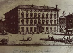 Senate of the Italian Republic - Original Lithograph - 20th Century