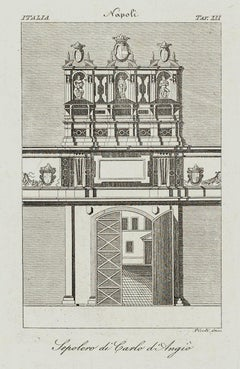 Sepulcher of Carlo di Angiò - Rome - Early 19th Century
