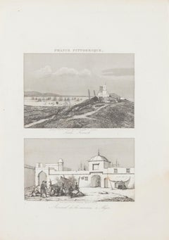 Sidi French and Arsenal d'Algier - Original Lithograph - 19th century