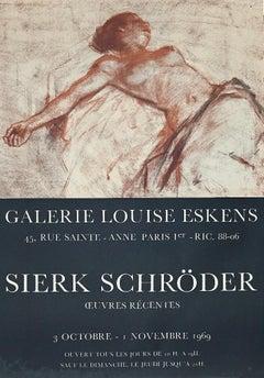 Sierk Schroder Vintage Exhibition Poster- Offset Print - 1969