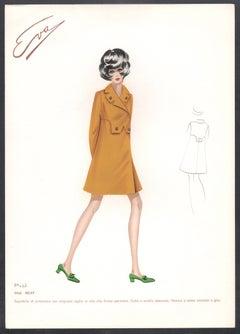 'Silvy' Italian 1960s Women's Fashion Design Illustration