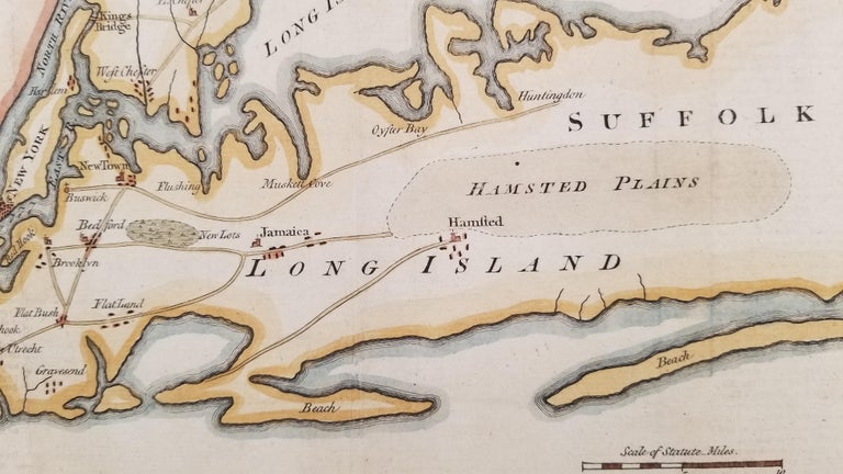 Sketch of the Country Illustrating the late Engagement in Long Island. - Beige Print by Unknown