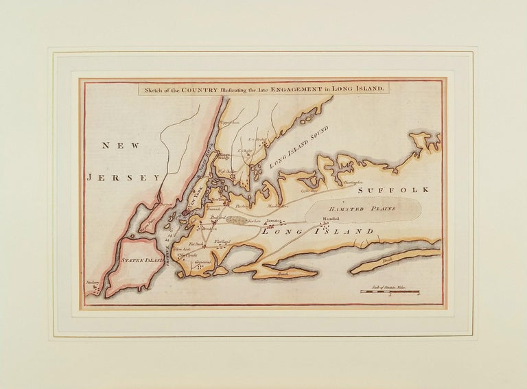 Unknown Print - Sketch of the Country Illustrating the late Engagement in Long Island.