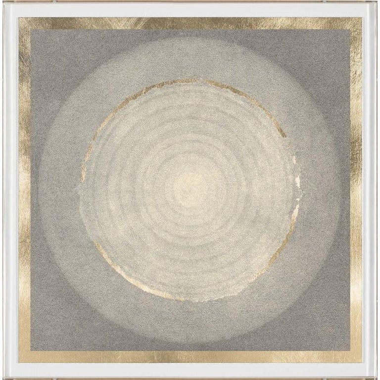 Unknown Abstract Print - Solaris No. 3, gold leaf, unframed