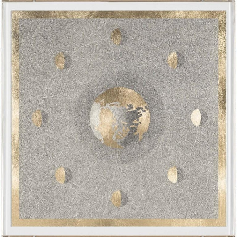 Unknown Abstract Print - Solaris No. 5, gold leaf, unframed