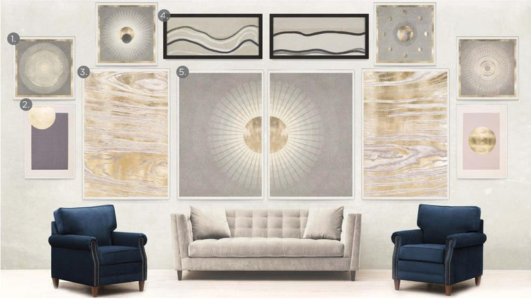Solaris No. 6, gold leaf, framed - Contemporary Print by Unknown