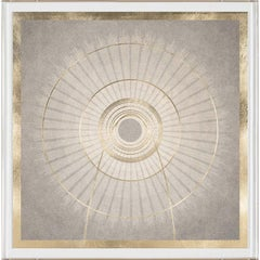 Solaris No. 6, gold leaf, framed