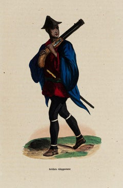 Soldier - Original Lithograph - 19th Century