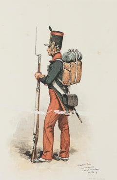 Soldier - Original Lithograph - 19th Century