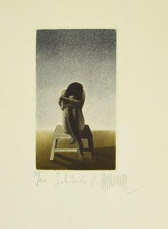 Solitude - Original Etching - Late 20th century