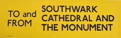 Southwark Cathedral and the Monument London England Routemaster Bus sign c. 1970