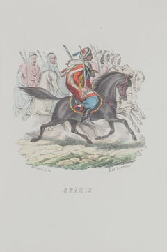 Spahis - Original Lithograph - 1846