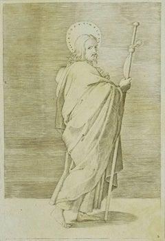 St. James - Original Etching Artwork on Paper - XVII Century