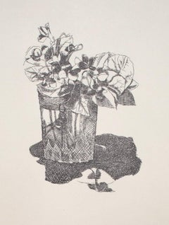 Still Life - Original Etching and Drypoint  on Paper - 20th Century