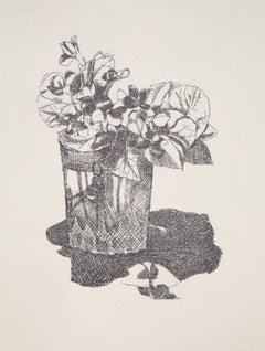 Still Life - Original Offset Print on Paper - 20th Century