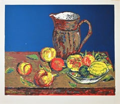 Still Life - Original Screen Print on Paper signed Piscini - Late 20th Century